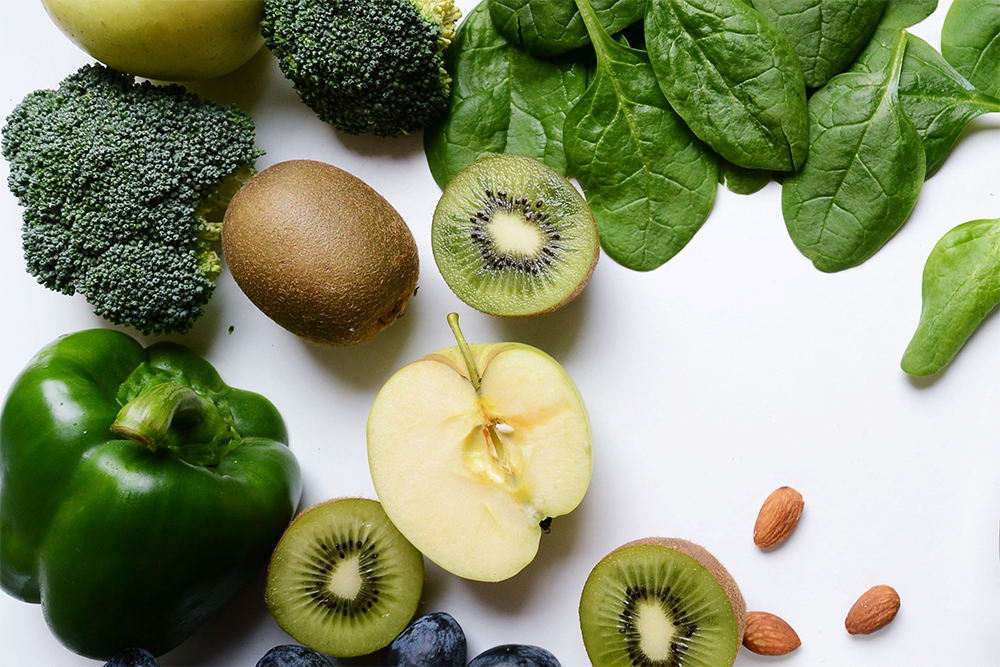 Nutritional therapy a varied selection of fruit vegetables and nuts